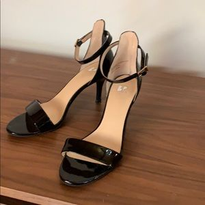 BP Strappy Patent Leather Heels